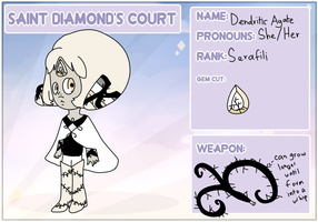 Saint Diamond's Court I Dendritic Agate by Tazie3Chan