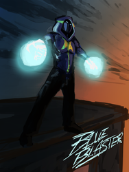 THE BLUE BLASTER by encune