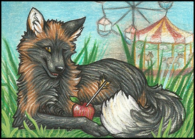 ACEO- The Jokester by grouchywolfpup