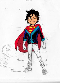 Superboy sketch by djinn666