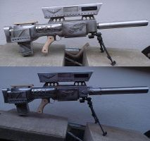 Elysian sniper rifle with second barrel version by ElysianTrooper