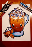 Coloured - Dessertie | Hot Chocolate Lineart by Lil-Lewlew