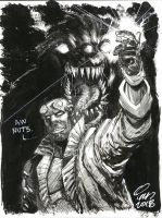 Hellboy and Monster by IanNichols