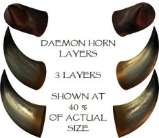 Daemon Horn Layers by WitsResources