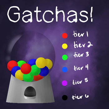 GATCHAS! (limited time)(need 400+ points by Dec 1) by Runic-Potato
