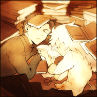 Fell a sleep in library by kissai