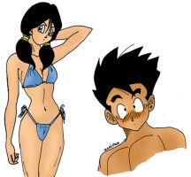 Swimsuit Videl by Oolong-sama