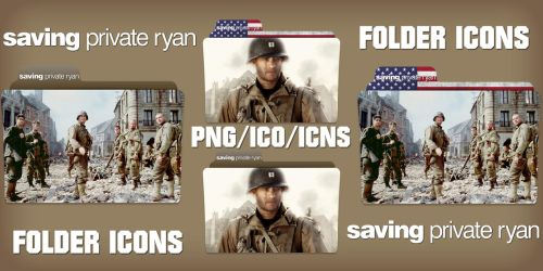 Saving Private Ryan (1998) Folder Icons Pack by ChrisNeville32