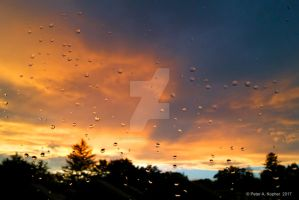 Raindrops at Sunset  by peterkopher