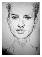 Natalie Portman WIP Pencil by karthik82