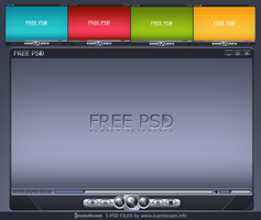 Player interface - free PSD by nelutuinfo