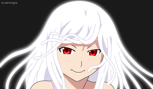 Sengoku Nadeko (BLACK) Vector Art IV by demongray