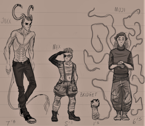 Oasis Character Height Reference Sheet by OA515-COMIC