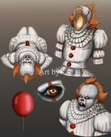 Pennywise Sketches by SessaV
