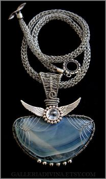 Wire wrapped necklace - Earendil the Mariner OOAK by Faeriedivine