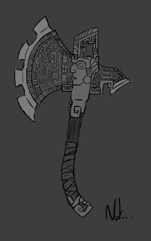 Battle axe concept by Nat-the-witch