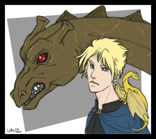 +S'ron, Morgoth and Flare+ Commission 02 by CrimsonSlush