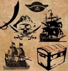 Pirate Brush Set by Tink-ling