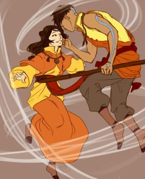 Adult Kai And Jinora by NyaNanaX
