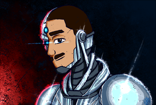 a friend of mine as (a) Cyborg by TheVoidful