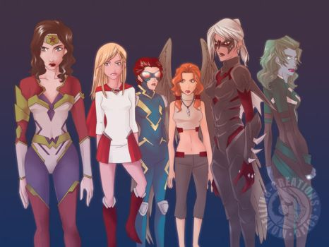 JLA Femme by symbiotes021