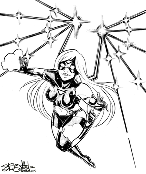 Inktober Day 3: Empowered by Jadiekins