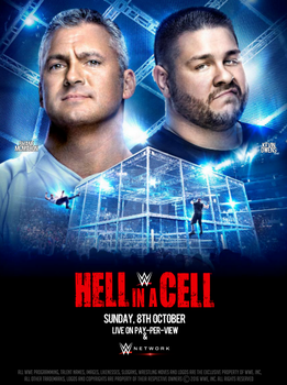 WWE Hell In A Cell 2017 Official Poster by SidCena555