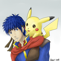 Ike and Pikachu by global-wolf