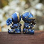 Knight Blooms: Rose Edition (blue/gold) by liadys