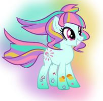 Rainbow Power Sunny Flare by BerryPunchrules