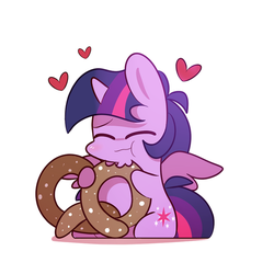 eating a large pretzel! by MACKINN7
