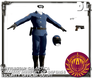 [MMD] BSG Colonial Security Uniform DOWNLOAD by Riveda1972