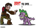 No this dragon, Hiccup by frikineitor143