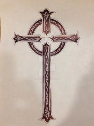 Celtic Cross Tattoo by lilsurferbabe