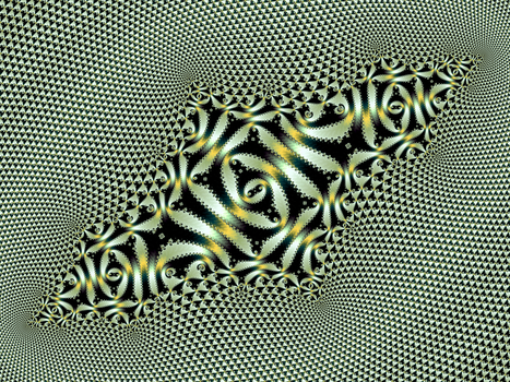 Triangle tiling with layered julia morphing by DinkydauSet