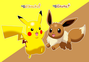 Let's Go Pikachu and Eevee by Alex13Art