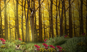 Tranquil Meadow Premade Background by Viktoria-Lyn