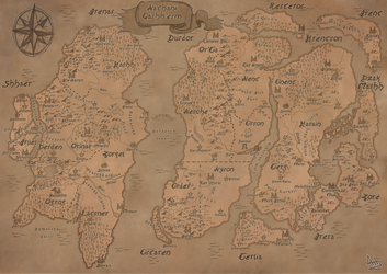 Lands of Natan Fantasy map by Daarthu