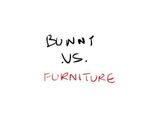 Bunny .vs. Furniture GIF by tarunbanned