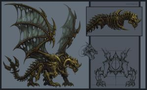 Undead Dragon by KhezuG