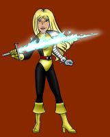 Angie as Magik by BloodyWilliam