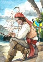 ACEO Pirate by engelszorn