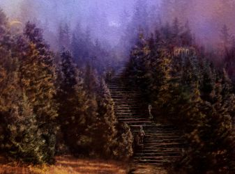 Path into the woods by calikal
