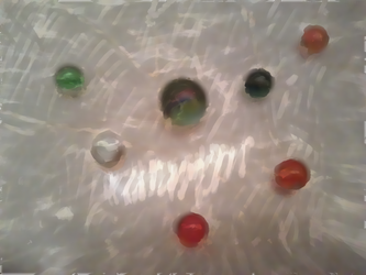 Fake Painting - Glass Marbles by RavenPencil