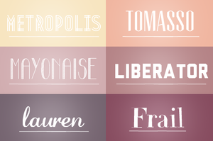 O6 fonts pack #O3. by hearttrouble