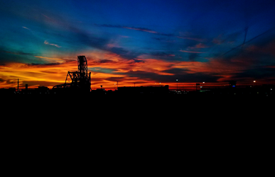 Industrial Sunset by abekowalski
