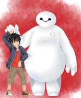 Hiro and Baymax by summ78