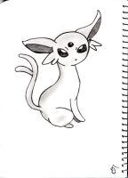 Espeon Sketch by Megalomaniacaly