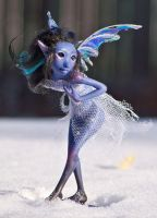 Blue Fairy in Snow by ladymeow
