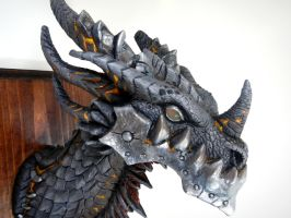 Deathwing Sculpture Detail by DragonCid